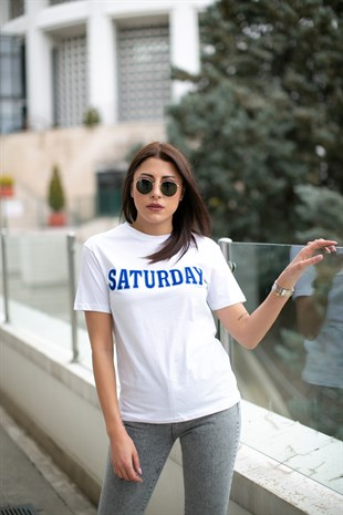 SATURDAY TSHİRT BEYAZ