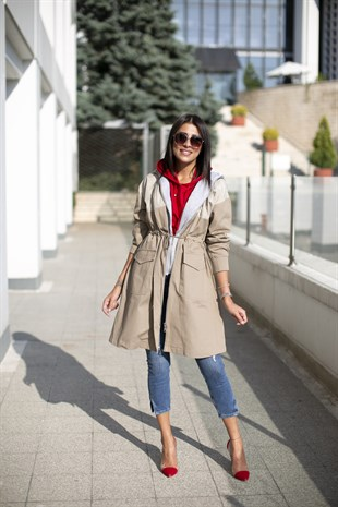 SWEAT DETAYLI TRENCHCOAT